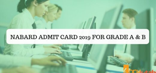 NABARD Admit Card 2019 for Grade A & B