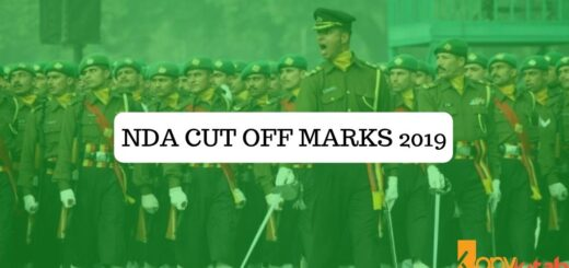 NDA Cut off marks 2019