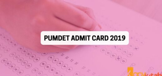 PUMDET Admit card 2019