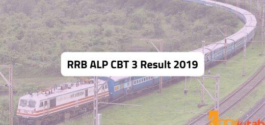 RRB ALP CBT 3 Result 2019
