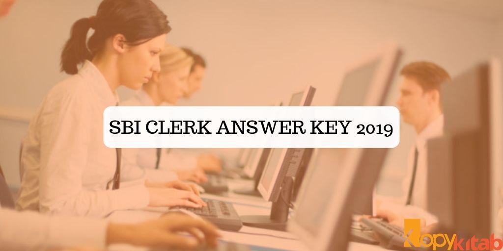 SBI Clerk Answer Key 2019