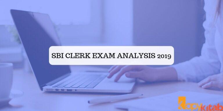 SBI Clerk Exam Analysis 2019
