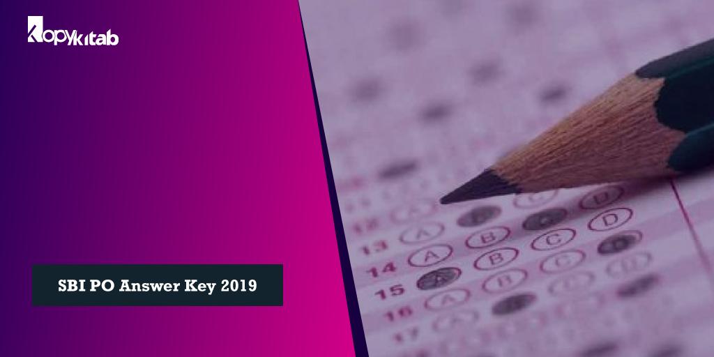 SBI PO Answer Key 2019