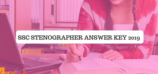 SSC Stenographer Answer Key 2019