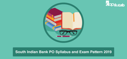 South Indian Bank PO Syllabus and Exam Pattern 2019