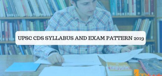 UPSC CDS Syllabus and Exam Pattern 2019