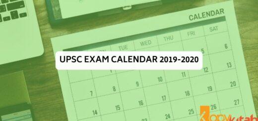 UPSC Exam Calendar 2019-2020