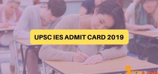 UPSC IES Admit Card 2019