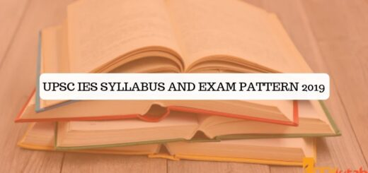 UPSC IES Syllabus and Exam Pattern 2019