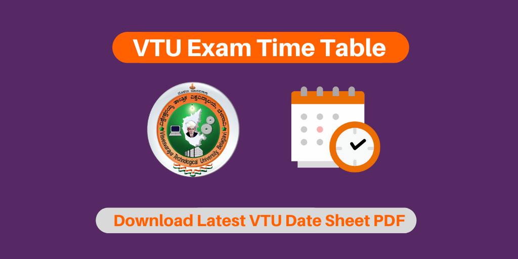 VTU Exam Time Table 2019-2020