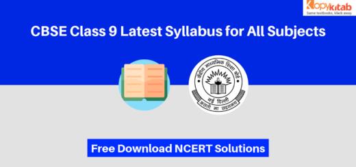 CBSE Class 9 Syllabus PDF