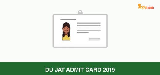 DU JAT Admit Card 2019