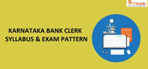 Karnataka Bank Clerk Syllabus