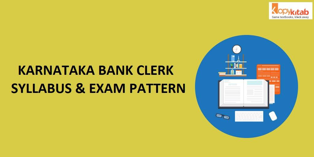 Karnataka Bank Clerk Syllabus