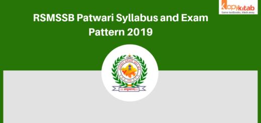 RSMSSB Patwari Syllabus 2019