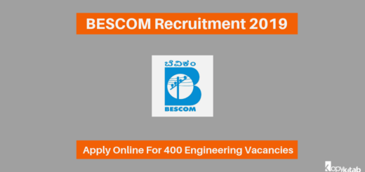 BESCOM Recruitment 2019