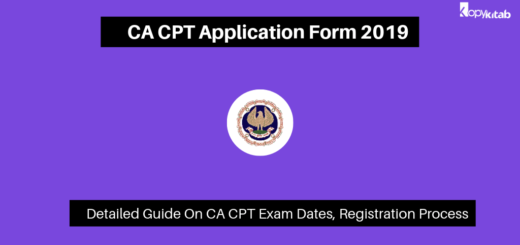 CA CPT Application Form 2019