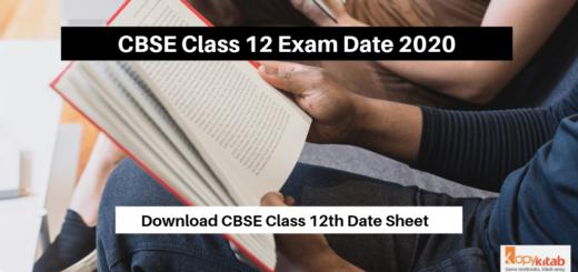 CBSE Class 12 Exam Date 2020 notification