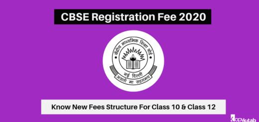 CBSE Registration Fee 2020