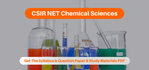 CSIR NET Chemical Sciences