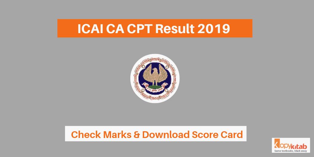 ICAI CA CPT Result 2019
