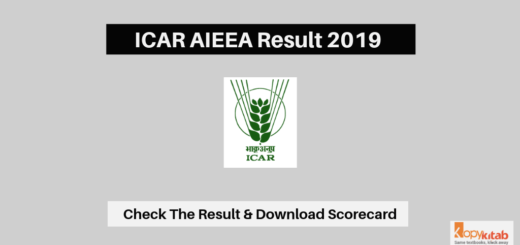 ICAR AIEEA Result 2019 latest