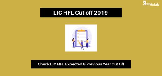 LIC HFL Cut off 2019