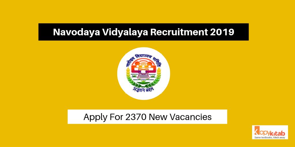 Navodaya Vidyalaya Recruitment 2019