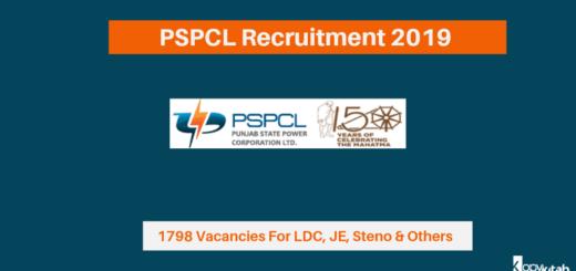 PSPCL Recruitment 2019