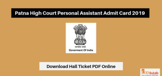 Patna High Court Personal Assistant Admit Card 2019