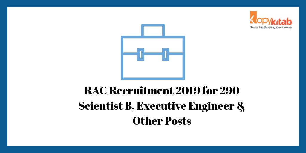 RAC Recruitment 2019