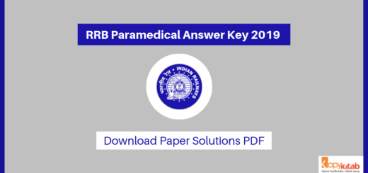 RRB Paramedical Answer Key 2019