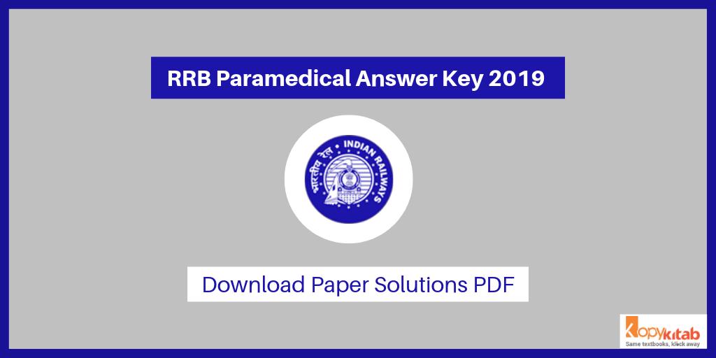 RRB Paramedical Answer Key 2019