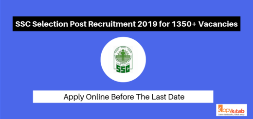 SSC Selection Post Recruitment 2019