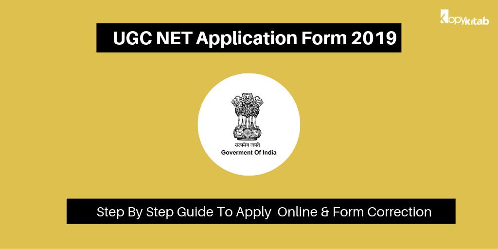 UGC NET Application Form 2019