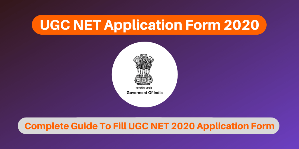 UGC NET Application Form 2020