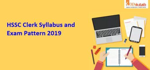 HSSC Clerk Syllabus