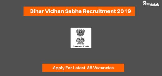 Bihar Vidhan Sabha Recruitment 2019