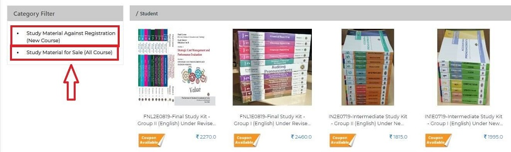 CA Foundation books for register candidates