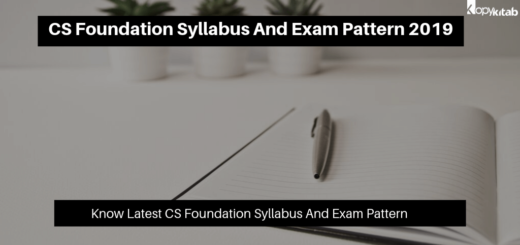 CS Foundation Syllabus And Exam Pattern 2019