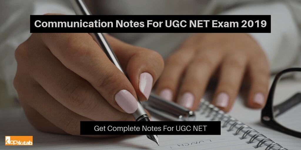 Communication Notes For UGC NET Exam 2019