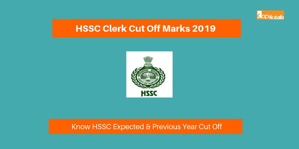HSSC Clerk Cut Off Marks 2019