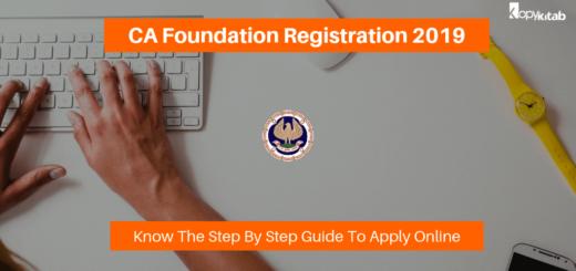 ICAI CA Foundation Registration 2019