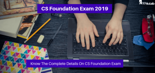 ICSI CS Foundation Exam 2019