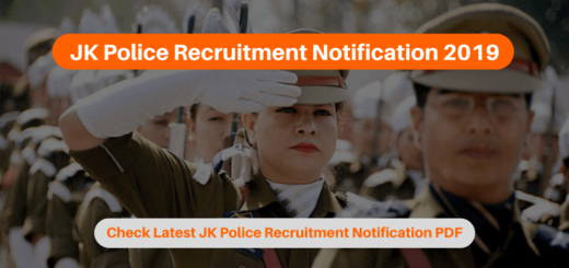 JK Police Recruitment Notification 2019