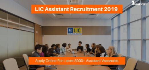 LIC Assistant Recruitment 2019 For 8000+ Vacancies