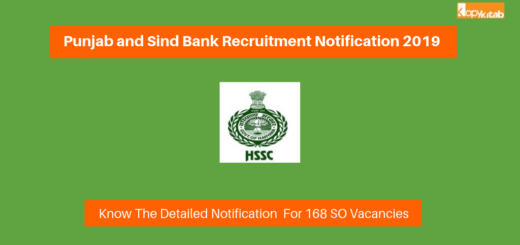Punjab and Sind Bank Recruitment Notification 2019