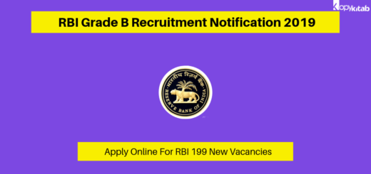RBI Grade B Recruitment Notification 2019
