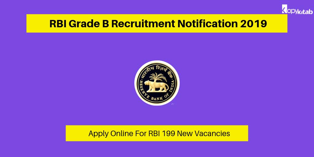 RBI Grade B Recruitment Notification 2019