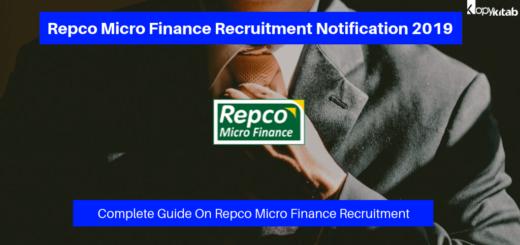 Repco Micro Finance Recruitment Notification 2019